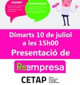 El CETAP acull la presentació del programa Reempresa