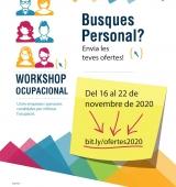 La 6a edició del Workshop Ocupacional serà en format virtual