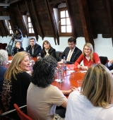 Visita de la consellera de Presidència i portaveu del Govern, Elsa Artadi, al Consell Comarcal