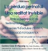 Exposició de fotografia i taula rodona sobre mort perinatal i dol gestacional