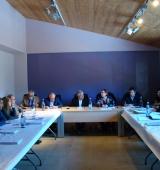 La presidenta de la Diputació de Lleida, Rosa Maria Perelló, s'ha reunit amb els alcaldes de l'Alt Urgell
