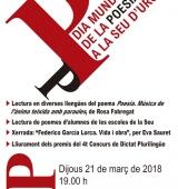 L'Alt Urgell celebra el Dia Mundial de la Poesia amb un acte a la sala La Immaculada de la Seu d'Urgell