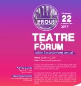 """Teatre fòrum a Oliana amb l'obra """"Prou!"""", que aborda el tema de l'assetjament sexual"""