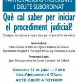 El Consorci d'Atenció a les Persones de l'Alt Urgell facilita consultes gratuïtes amb advocats de la comarca pels afectats de les preferents