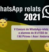 Més de 800 alumnes de l'Alt Pirineu, Aran i Andorra han participat en el V Concurs WhatsApp Relats