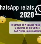 Es fa públic el veredicte del jurat del Concurs WhatsApp Relats per a alumnes de 4t d'ESO i nivells equivalents de l'Alt Pirineu, Aran i Andorra